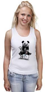 <b>Майка классическая Панда</b> на велосипеде #2102222 от Xieros по ...