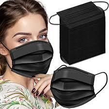 Black Disposable Face Masks, Face Masks 3 Ply ... - Amazon.com