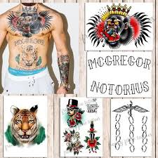 <b>Conor McGregor</b> Temporary Tattoos for Cosplayers. Real Size. 5 ...