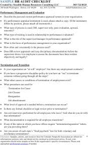 sample hr audit checklist pdf what type of training is used in relationship to performance evaluation what is the role