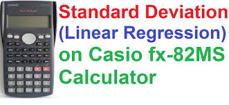 standard deviation linear regression on casio fx ms scientific standard deviation linear regression on casio fx 82ms scientific calculator