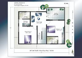 X House Plan   East Facing House Plan   Home Plans India      X      East Facing House Plan   st Floor