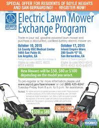 electric lawn mower exchange program supervisor hilda l solis electric lawn mower exchange program