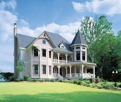 Queen Anne Style House Plans at Dream Home Source   Victorian HomesTemp
