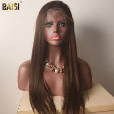 BAISI Color 1B/4# Straight <b>Top Quality</b> Customized Wig,<b>Free Shipping</b>