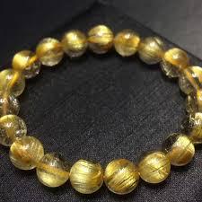 2019 <b>Natural Gold Rutilated</b> Titanium Quartz Bracelet Brazil Women ...