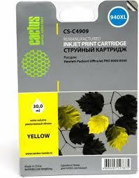 <b>Картридж Cactus CS-C4909</b>, желтый, для струйного принтера ...