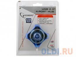 <b>Концентратор</b> USB 2.0 Gembird UHB-C224, <b>4</b> порта, прозр.корпус ...