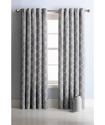 Silver Curtains For Bedroom Buy Collection Trellis Lined Eyelet Curtains 117 X 137cm Grey At