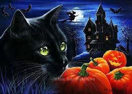 Halloween Black Cat Irina Garmashova | kat10 | Halloween prints ...