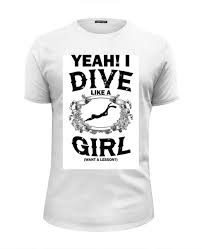 Футболка Wearcraft Premium Slim Fit <b>Dive</b> like <b>a</b> Girl #1357313 от ...