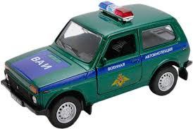 Купить <b>модель машины Welly</b> Lada 4x4 Военная автоинспекция 1 ...