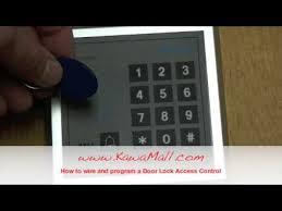 KAWAMALL <b>RFID Door Lock Access Control</b> System Install - YouTube
