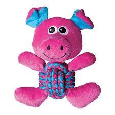 """<b>Kong игрушка</b> для собак """"Свинка"""", средняя 22*20 см, <b>Weave</b> Knots"""