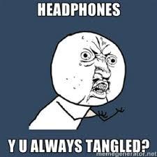 Knotty Headphones on Pinterest | Headphones, Tangled and Pockets via Relatably.com
