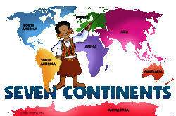 Look at the picture to the left to help you remember the seven continents  Please remember what we learned in class  Which continent is the largest  D