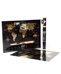 Купить <b>Скретч</b>-<b>карта мира</b> «Gold Edition» на пластике в тубусе ...