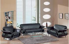 modern black leather sofa set with glass coffee table on grey rug in living room black leather sofa perfect
