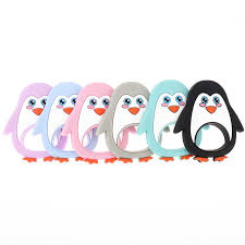 10PCS Penguin <b>Baby</b> Silicone Teether Bpa Free Silicone Teethers ...