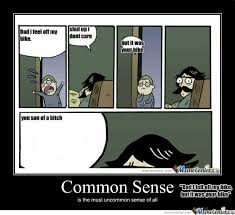 Common Sense, This Person Has None. by TartZombie - Meme Center via Relatably.com
