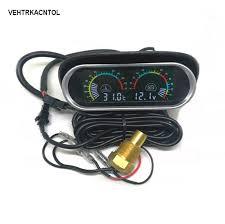 VEHTRKACNTOL <b>12v 24v Car Truck</b> Water Temperature Gauge ...