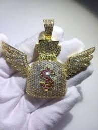 Hip Hop CZ <b>Zircon Stone</b> Setting <b>Bling</b> Iced Out Angel Wing US ...