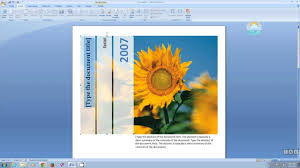microsoft word create a cover page microsoft word 2007 create a cover page