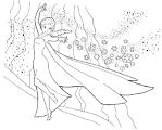 Раскраска эльза королева