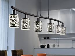 Linear Dining Room Lighting Lighting Ideas 6 Lights Linear Pendant Lamp Over Dining Table By