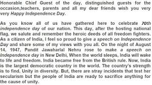 th independence day speech for students in english    words  th independence day speech image