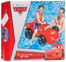 Купить <b>Надувная машина Intex</b> Ride On Тачки <b>57516</b> красный ...