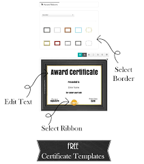 printable and customizable award templates award template