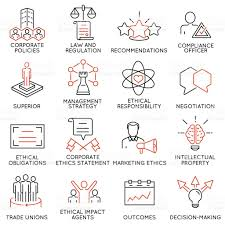 business ethics management strategy and development icons part  business ethics management strategy and development icons part 3 royalty stock