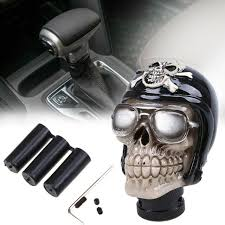 Black <b>Skull Head</b> Type Universal Car Truck Manual Gear Shift Knob ...