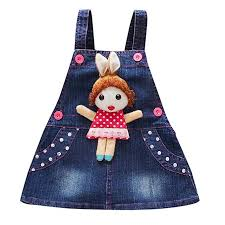 Fashion New Baby Girls Strap Denim Dresses ... - Amazon.com