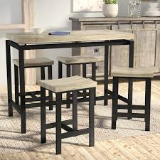 Laurel Foundry <b>Modern</b> Farmhouse Bourges <b>5 Piece</b> Pub Table Set ...