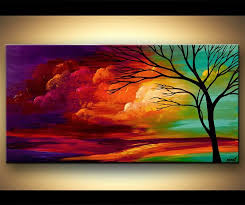 wild on the left to soft on the right like this acryclic painting soft