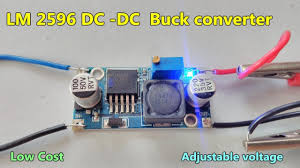 <b>LM 2596 DC</b> -<b>DC</b> Buck converter | <b>Adjustable</b> step down module ...