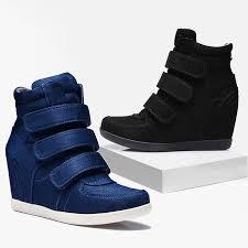 Women Platform High Heels Hook Loop Vulcanize Shoes Increased ...