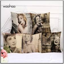 2018 NEW <b>1 Pcs</b> 45*45cm Sexy <b>Marilyn Monroe</b> Cushions Linen ...
