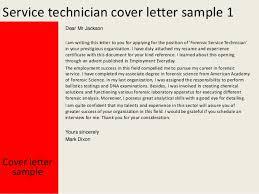 Service technician cover letter SlideShare Service technician cover letter