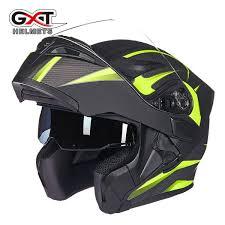 <b>GXT Motorcycle Helmets</b> Safe Double Visor ECE DOT Flip Up ...