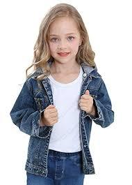 CaiDieNu Boys Girls Jean Jacket, Kids Denim Jacket ... - Amazon.com