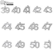 <b>my shape</b> 20pcs 39 51 Lucky Numbers Charms Pendants ...
