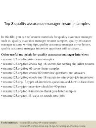 rtf qa lead resume template mb top8qualityassurancemanagerresumesamples 150426011318 conversion gate02 thumbnail 4 jpg cb