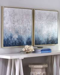 Frost on <b>Sapphire</b> Original Paintings <b>2</b>-<b>Piece</b> Set | Art | Art, Painting ...