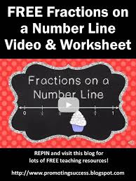 Number lines, Fractions and Video tutorials on PinterestFREE Fractions on a Number Line Grade Video Tutorial Plus FREE Printable Worksheet & Answer Key -- REPIN and visit this blog later for lots of FREE teaching ...
