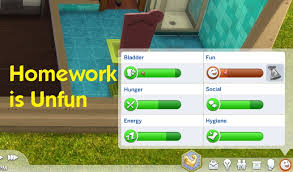 Homework Is Unfun The Sims       Mods Downloads