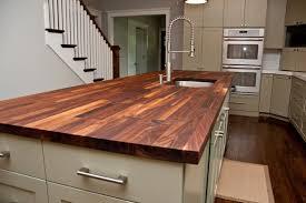 countertops dark wood kitchen islands table: contemporary kitchen countertops table island with walnut butcher