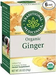 Traditional Medicinals <b>Organic Ginger Herbal Tea</b>, 16 Tea Bags ...